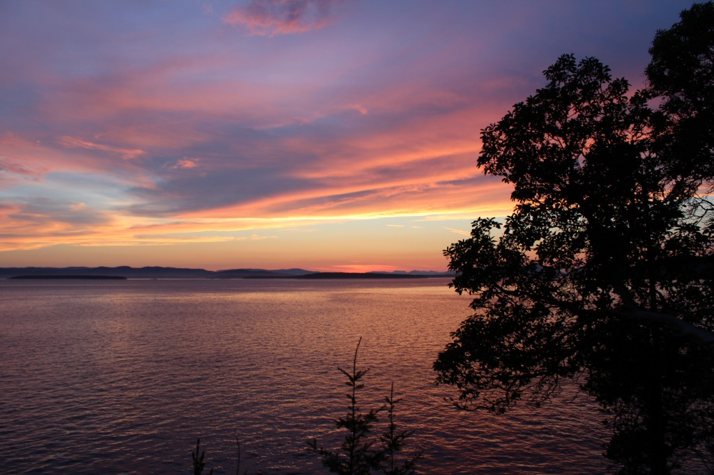 Sunset in the San Juan Islands, Washington