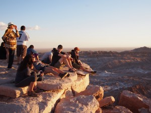 Near-perfect perch for sunset at the Valle de la Luna -- only lacking a pisco sour