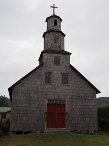 Seaside church, no frills, covered in shingles-- we think my dad would approve