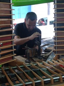 B's new belt was made to measure in Palermo by this gentleman