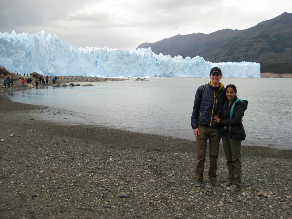 At the base of the glacier