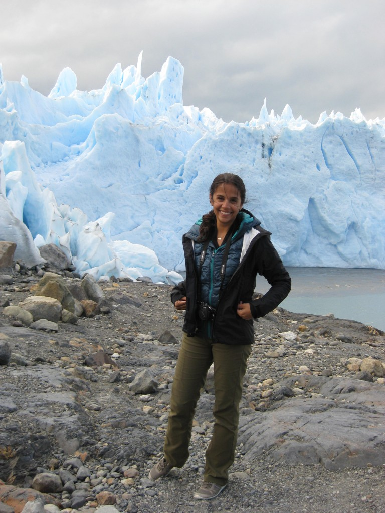 Rachel getting ready to take on the glacier