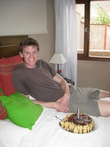 Birthday cake in bed!