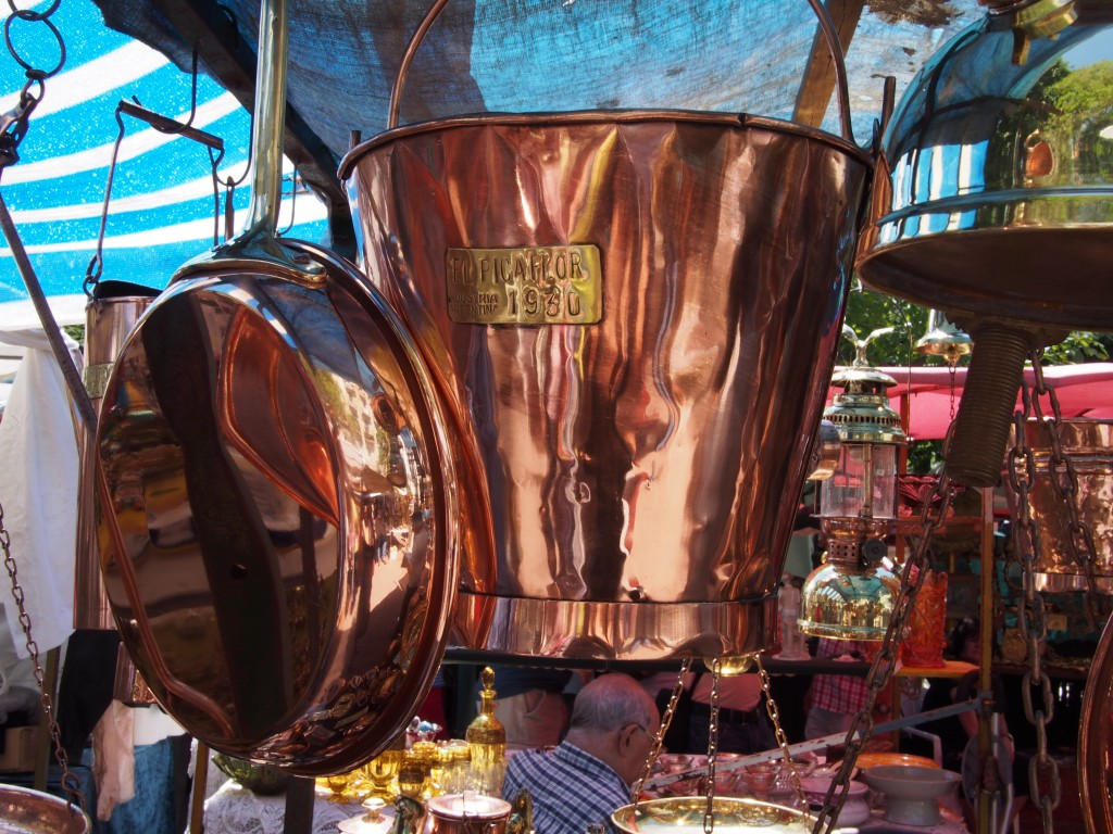 Copper kitchenware was too difficult to resist entirely