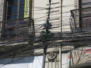 The power lines are perhaps not up to code