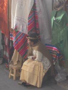 Woman in chola clothing