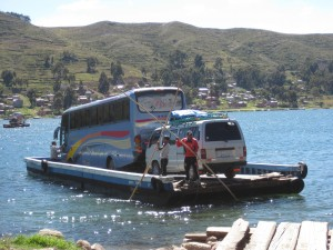 The ferry ride for our bus looked somewhat precarious--perhaps that's why we disembarked
