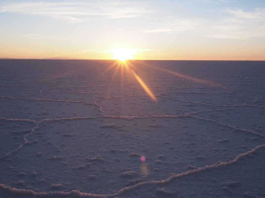 Sunrise on the salt flats