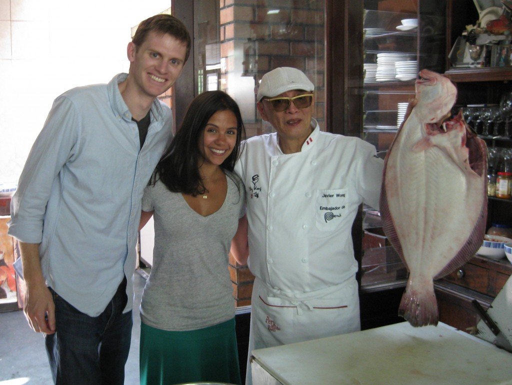 With our ceviche-be at Chez Wong