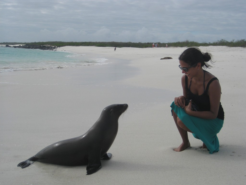 Making friends in the Galapagos