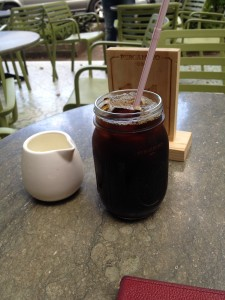 The pefect cup of iced coffee at the Pergamino Cafe