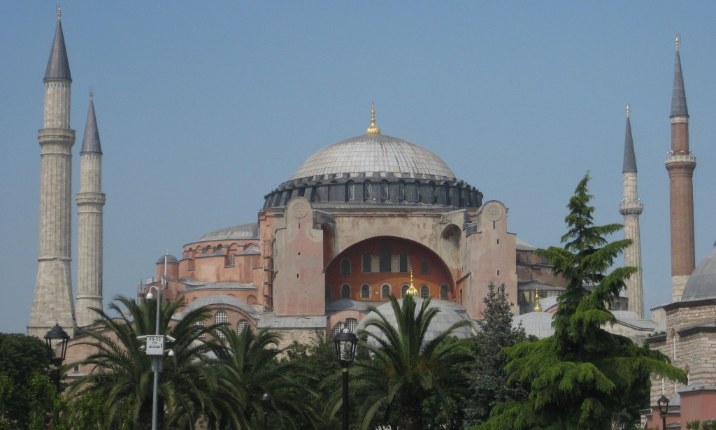 Hagia Sophia museum--built in 537, originally a basilica, later a mosque, always very fancy