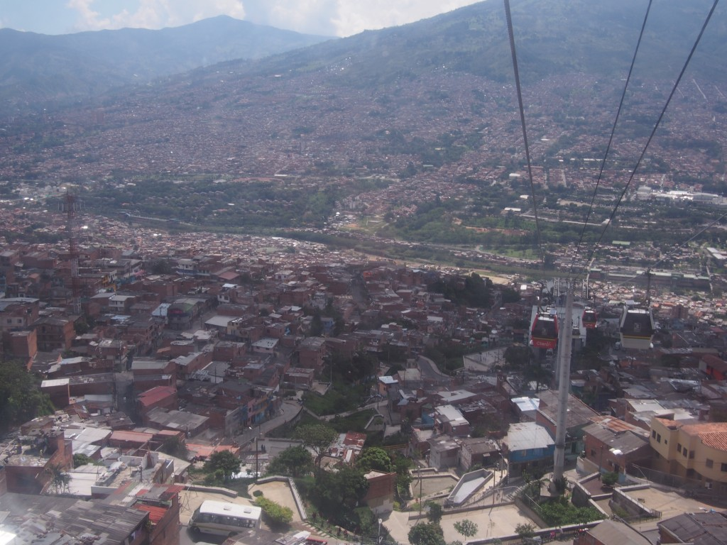 View from Medellin's gondola