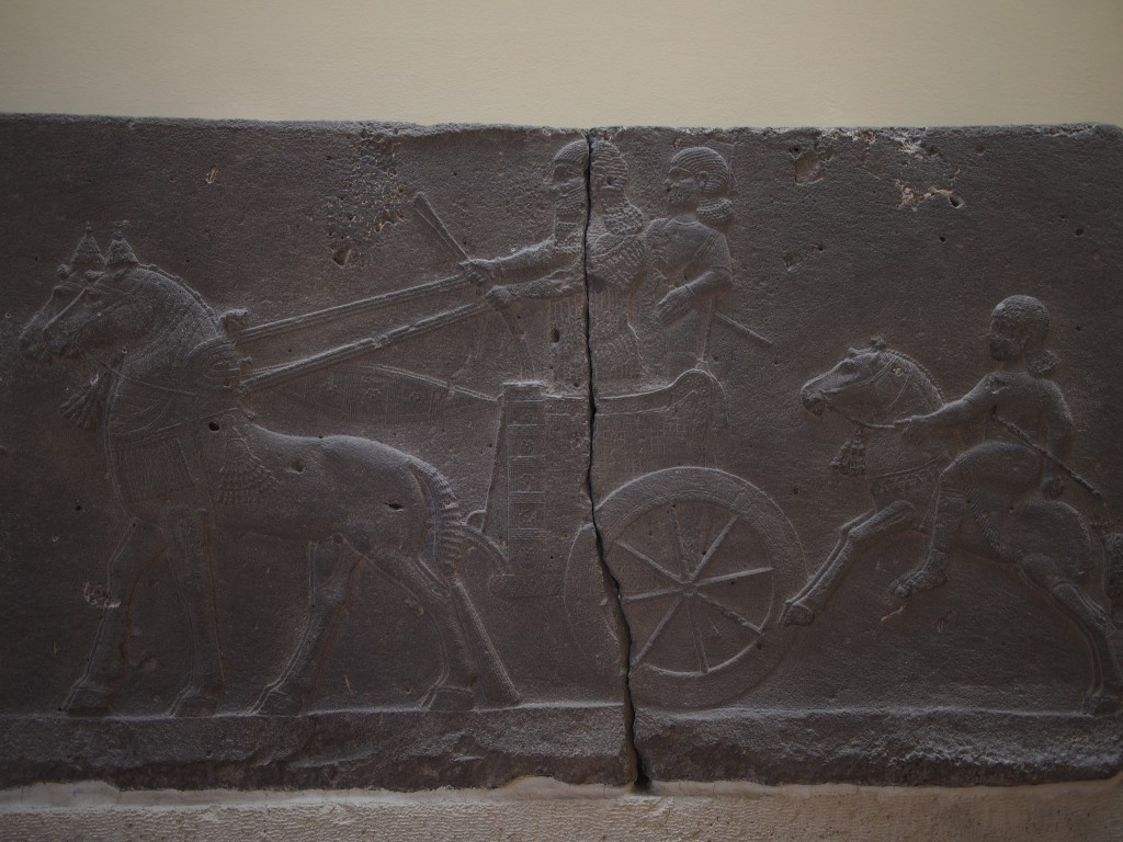 Assyrian relief panel at the Archaeological Museum