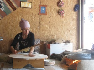 Ayse at work on her magical gozleme