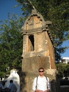 Lycian sarcophagus in the middle of Kas