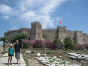 Rachel and DJ on the approach to the Fortress