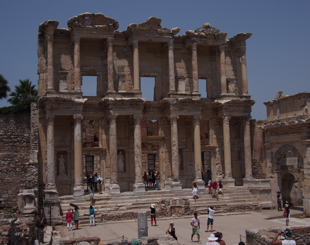 Restored (but admittedly still very impressive) facade of the Library of Celsus