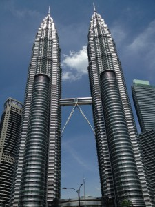 Petronas Towers, once the tallest buildings in the world and easily the most famous in KL