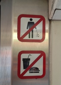 No eating, drinking, or sprinkling fairy dust on the subway