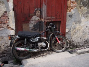 Strategically placed motorbike