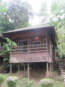 Our sweet bungalow overlooking the river