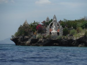 Hindu temple-- the island's only inhabitants are a handful of monks