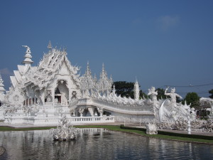 The aptly named White Temple